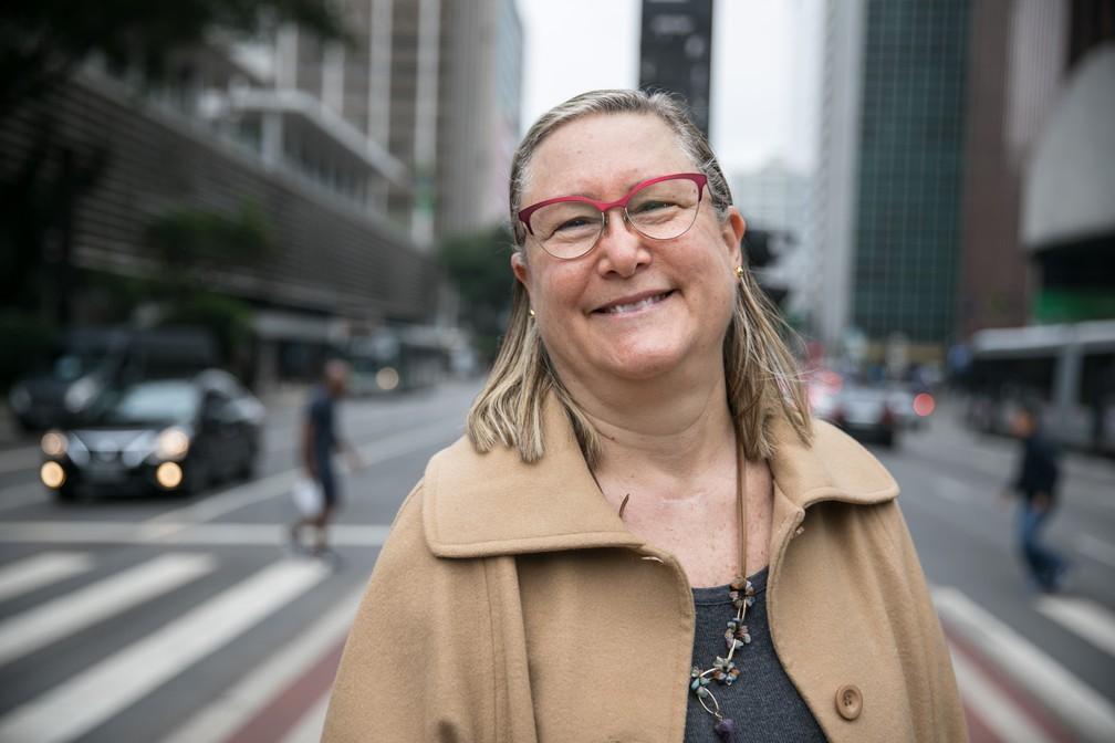 Veronique Forat, que abriu uma startup após os 60 anos: 'existe uma resiliência que você adquire com a idade'. — Foto: Fabio Tito/G1