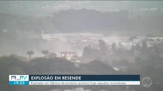 Inea avalia impacto ambiental após explosão na indústria química Archroma, em Resende