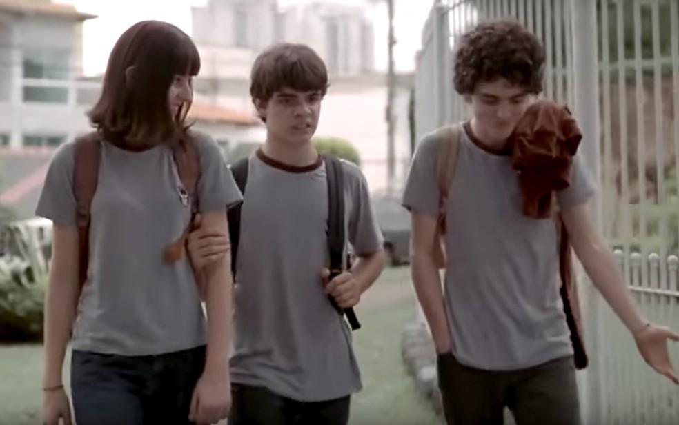 Cena do curta brasileiro 'Eu não quero voltar sozinho' exibido em aula do Profis, na Unicamp, em Campinas (Foto: Reprodução/Filme)
