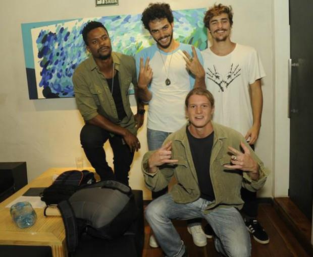 David Junior, Enzo Romani, Bruno Montaleone e Pedro Novaes (Foto: Divulgação/Jan Sen)