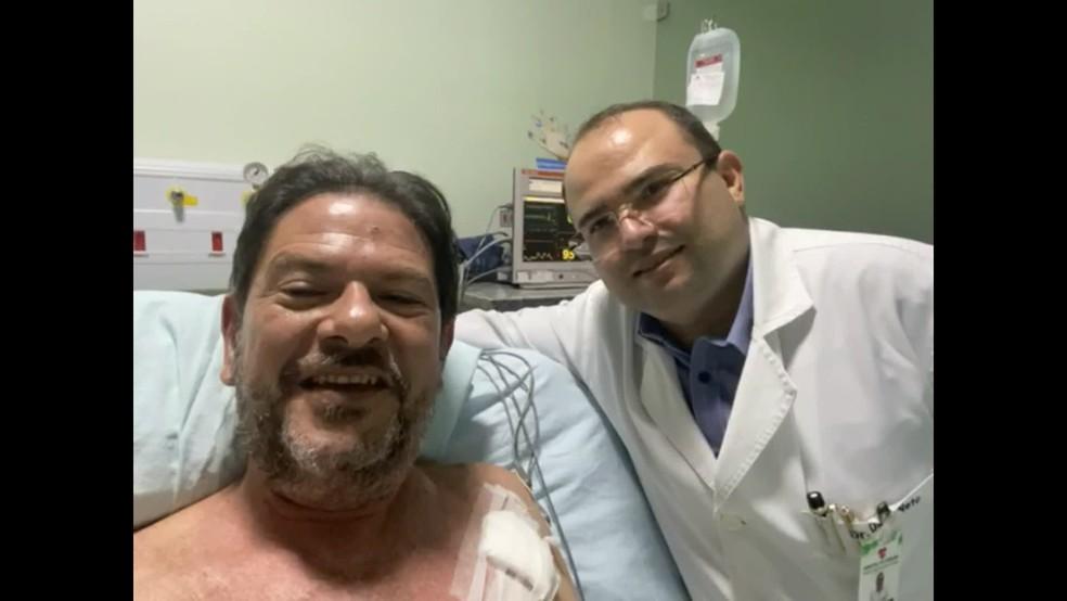 Cid Gomes foi internado após ser baleado em um protesto de PMs. — Foto: Reprodução/Globo