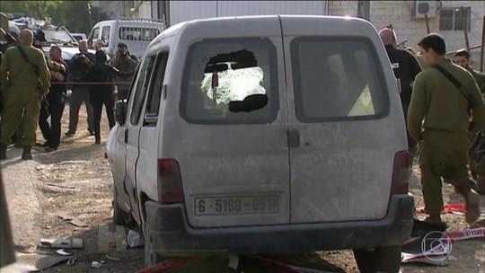 Palestino é morto depois de atropelar militares israelenses
