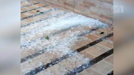 Chuva de granizo atinge Pinda, Cunha e São Luiz do Paraitinga; teto de oficina desaba