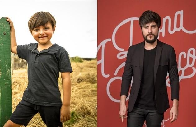 Bernardo Amil, que foi Júnior quando criança, passará o bastão para Guilherme Leicam (Foto: TV Globo)