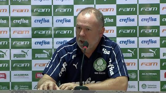 Mano Menezes não joga a toalha, mas diz que Palmeiras está perdendo título nos empates