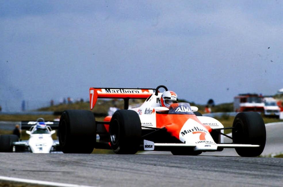 Com McLaren-Ford MP41D, John Watson correu GP da Holanda de 1983 — Foto: Reprodução/rede social