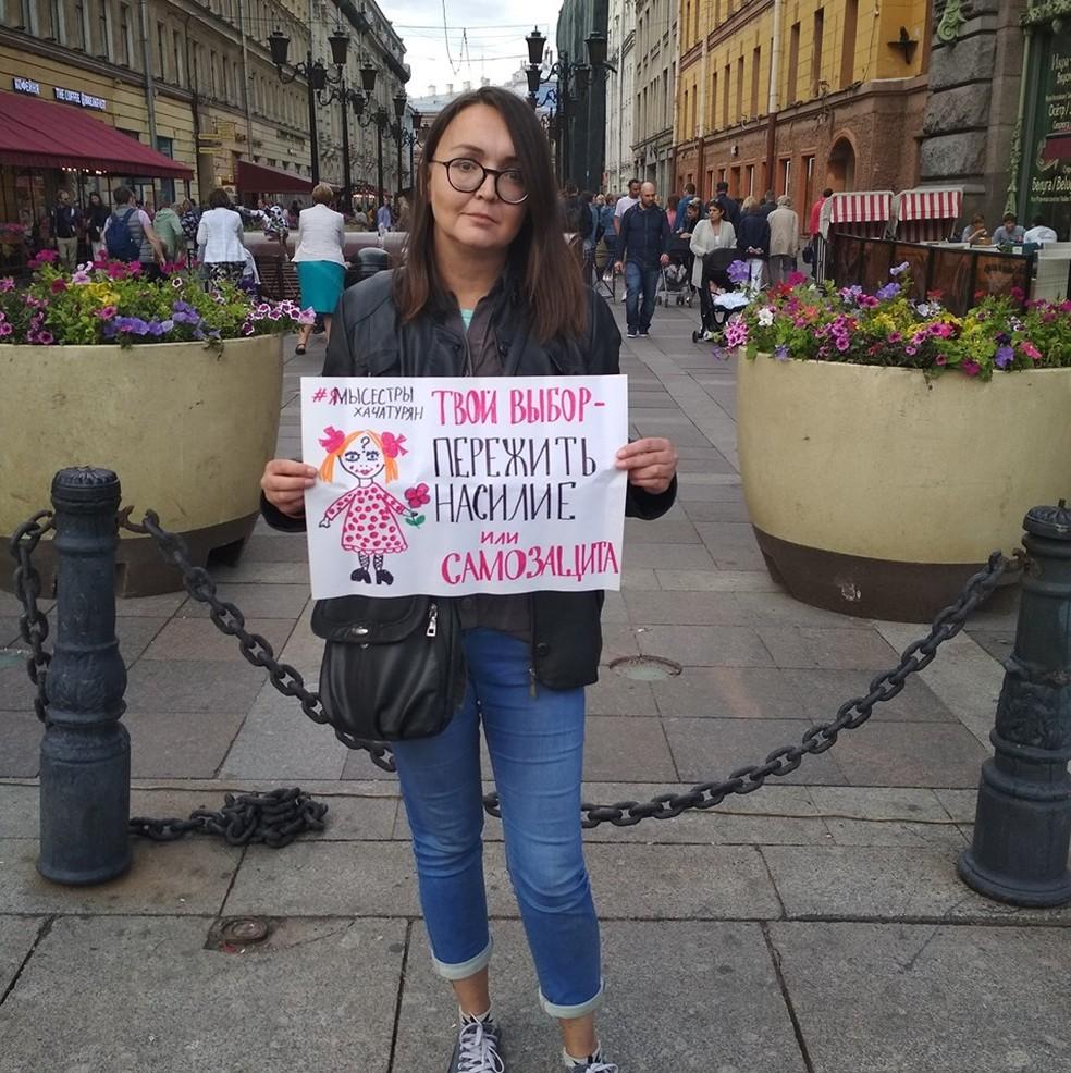 Morte da ativista russa Yelena Grigoryeva pode estar associada a site com temática de Jogos Mortais para caçar LGBT's — Foto: Reprodução / Facebook
