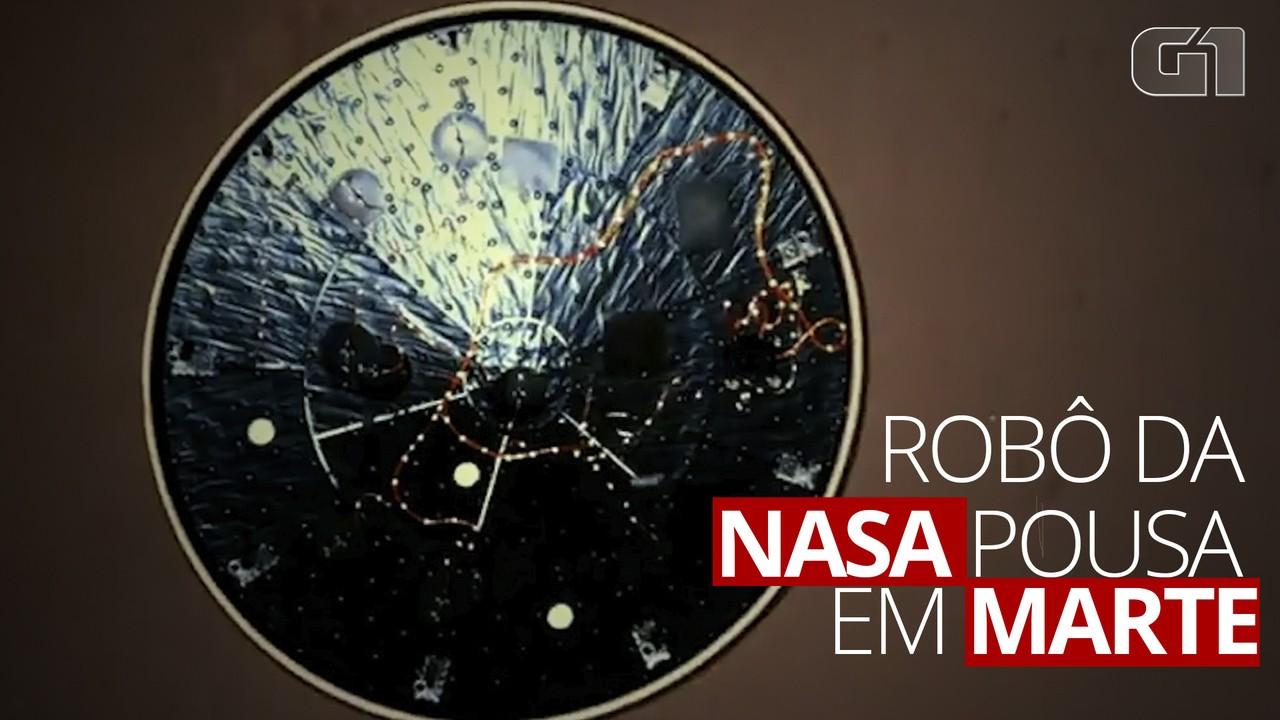 Nasa divulga vídeo de pouso do robô Perseverance em Marte