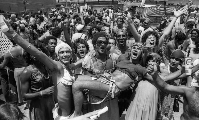 Carnaval do bloco Piranhas de Madureira, em fevereiro de 1981