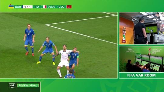 Raphael Claus anula com VAR gol da Itália nos acréscimos, e Ucrânia vai à final no Mundial Sub-20