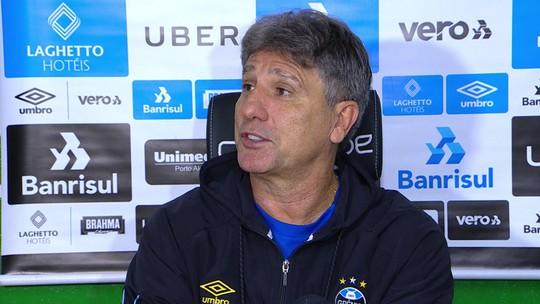 """Após empate, Renato critica """"amnésia"""" de """"cornetinhas"""": """"Não tem espaço lá em casa para botar mais taça"""""""