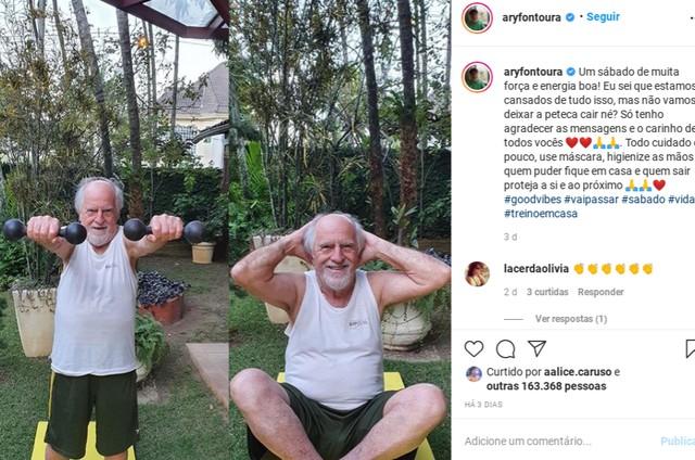 Ary Fontoura compartilha seus dias em quarentena com os seguidores (Foto: Reprodução Instagram)