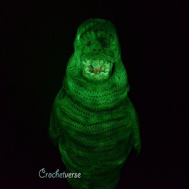 A fantasia do Geleia ainda brilhava no escuro (Foto: Reprodução/Twitter)