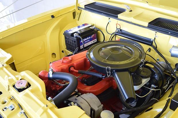 O motor 4.1 foi mantido como saiu de fábrica, sem modificações (Foto: Reprodução)