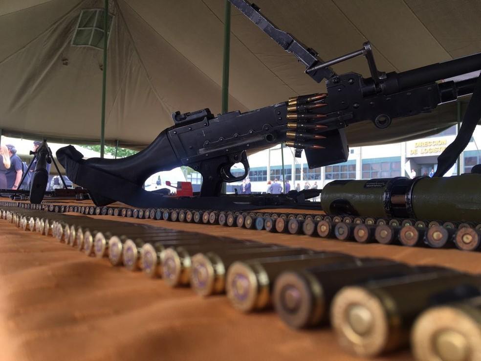 Fuzis e munições estavam na carga que traficantes enviaram para o RJ em voo da Argentina — Foto: Divulgação/Gendarmería Nacional (Argentina)