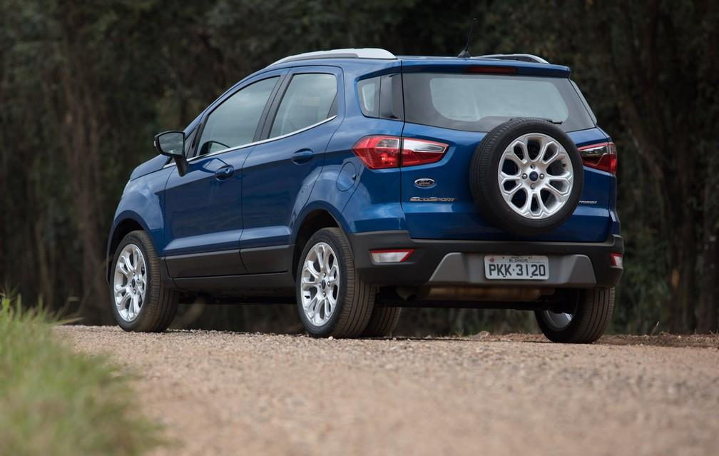 Ford EcoSport 2.0 Titanium - airbags são quase exclusividade da versão topo de linha (Foto: Marcelo Brandt/G1)