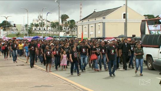 Protesto de agentes de saúde cobra cumprimento de lei ao Governo do Maranhão