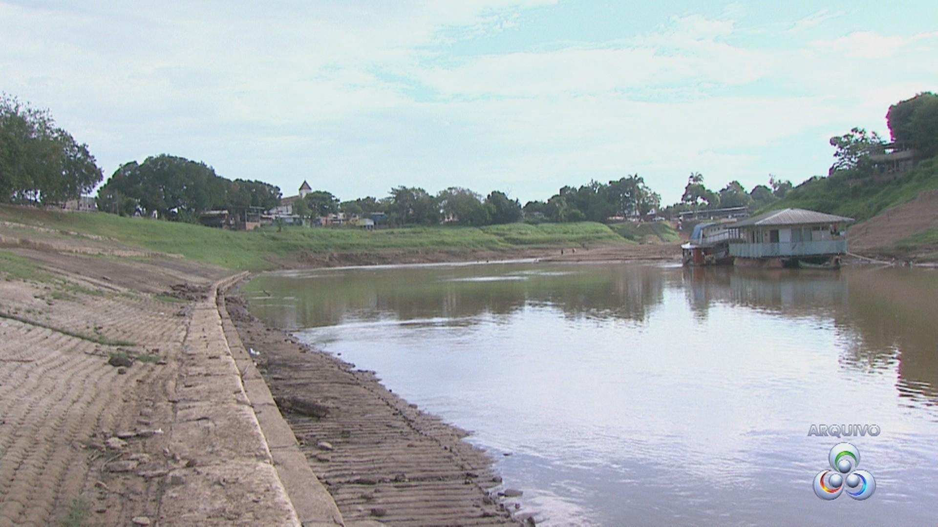 Abaixo dos 4 metros, nível do Rio Acre preocupa Defesa Civil  - Noticias