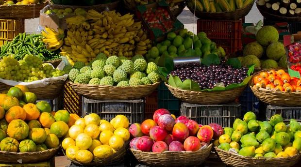 frutas, cesta, mercado (Foto: Reprodução/Pexels)