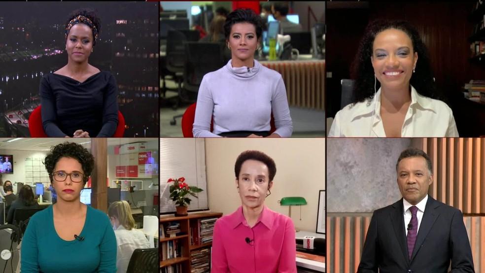 Jornalistas debatem racismo no Em Pauta, na GloboNews — Foto: GloboNews