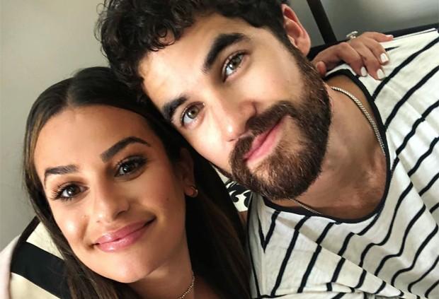 Lea Michele e Darren Criss (Foto: Reprodução / Instagram)