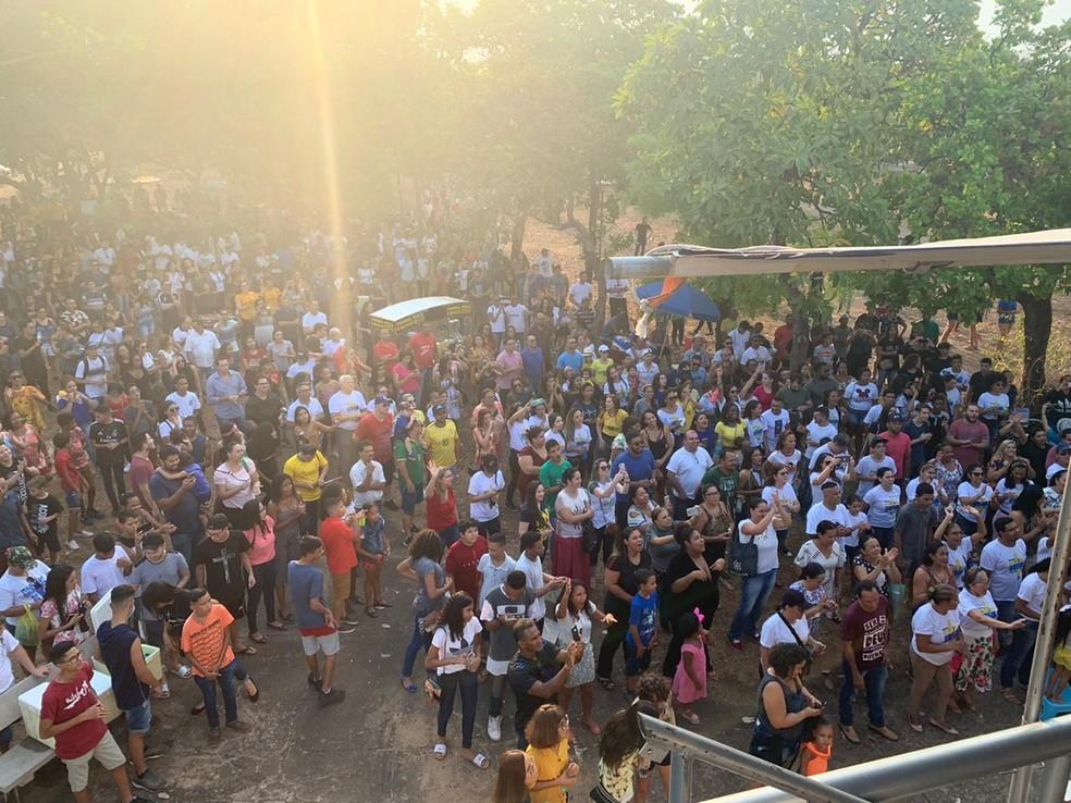 Marcha para Jesus é realizada em Palmas neste sábado (21) — Foto: Lucas Machado/TV Anhanguera