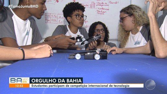 Estudantes baianos participam de competição internacional de robótica em Abu Dabi