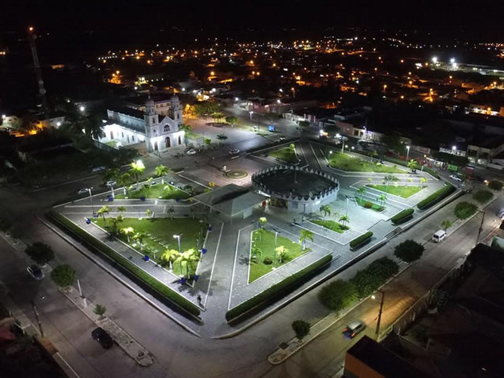 Praça Monsenhor Vicente Freitas João Câmara — Foto: Divulgação/Prefeitura de João Câmara