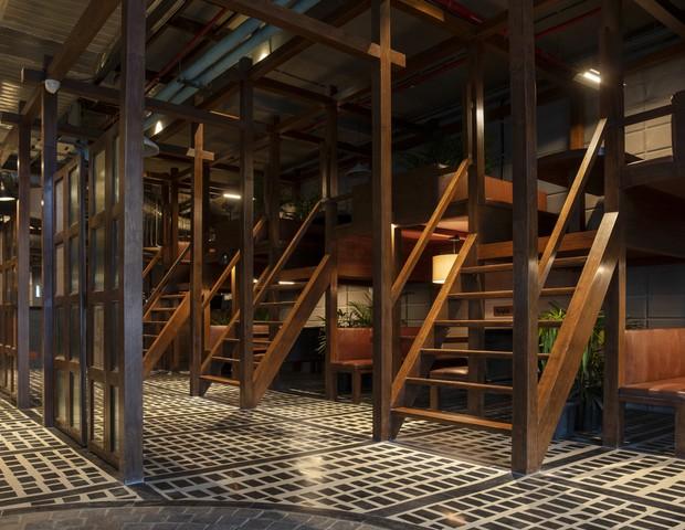 Estúdio desenha primeiro restaurante na Índia adaptado ao distanciamento social (Foto: Niveditaa Gupta)