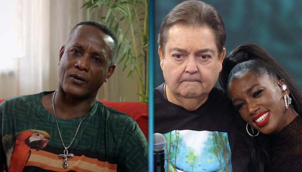 IZA se emociona com depoimento do pai no 'Arquivo Confidencial' do 'Domingão' — Foto: TV Globo