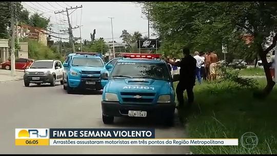 Fim de semana foi de violência em vias do Rio e da Baixada Fluminense
