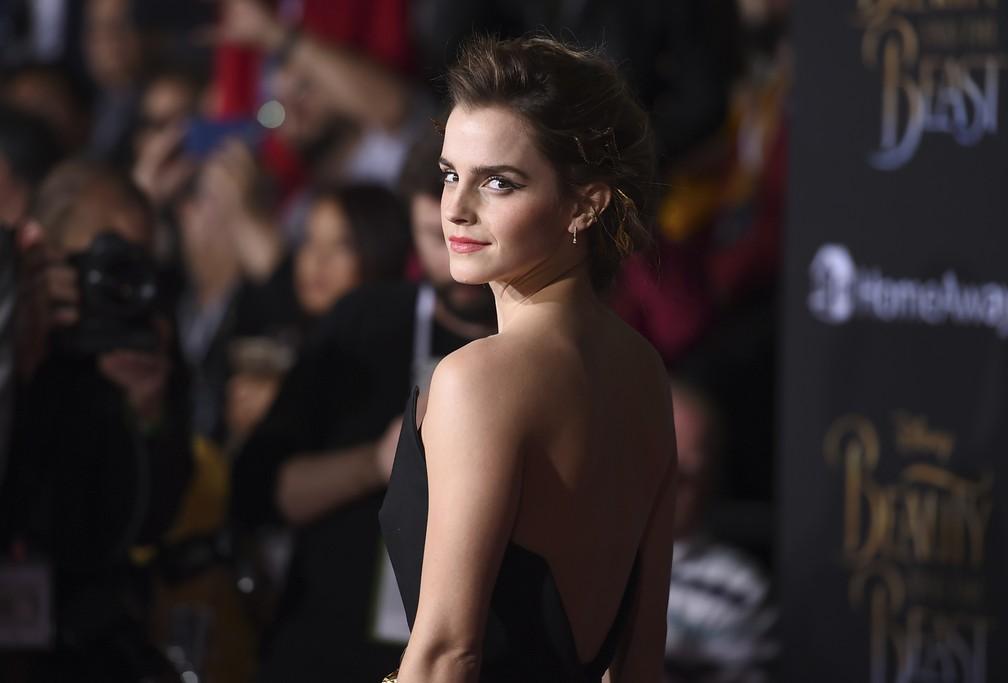 Emma Watson na estreia de 'A bela e a fera', em Los Angeles — Foto: Jordan Strauss/Invision/AP