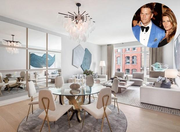 O casal arrematou a propriedade por 25,5 milhões de dólares. O design do interior é bastante moderno com alguns traços clássicos (Foto: Related Companies/ Reprodução)