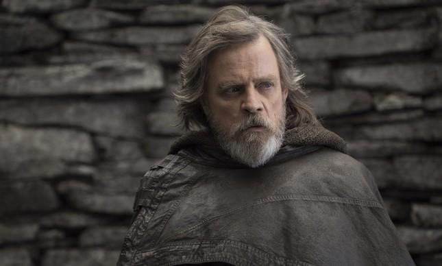 Mark Hammil como Luke Skywalker em 'Os últimos Jedi'