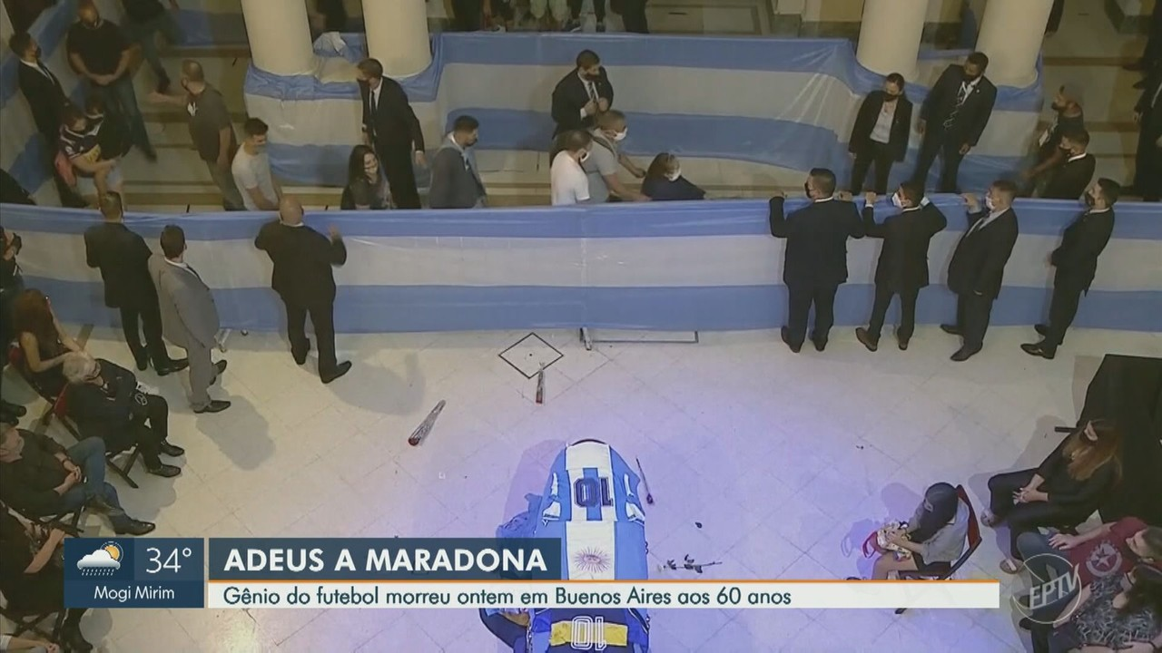 Corpo de Diego Maradona é velado na Casa Rosada