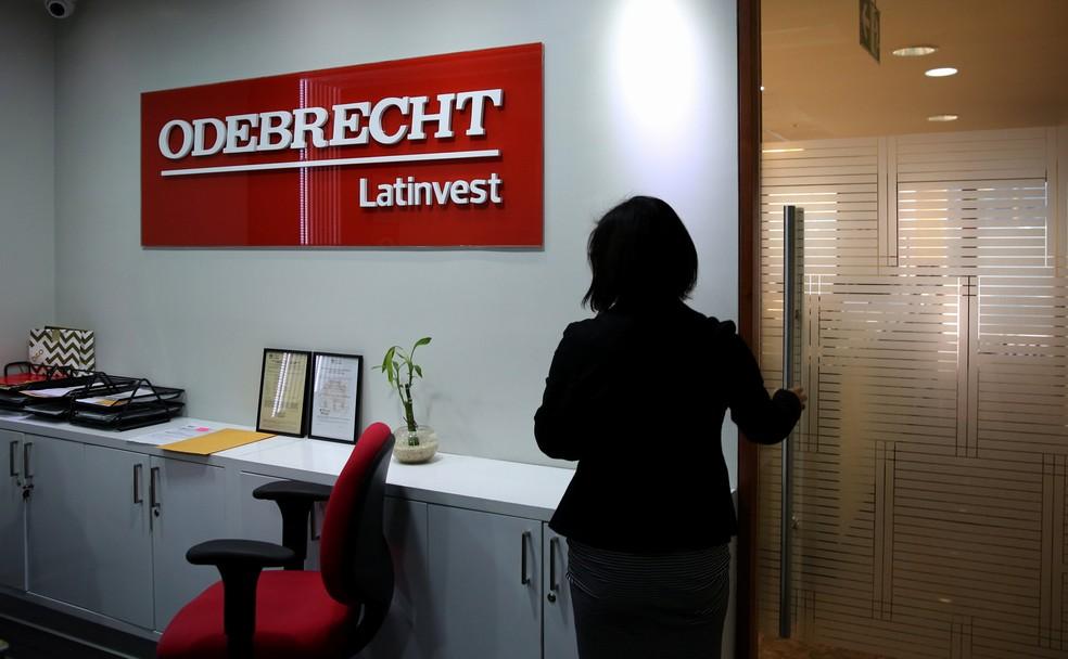Escritório da Odebrecht em Lima, no Peru — Foto: Reuters/Mariana Bazo