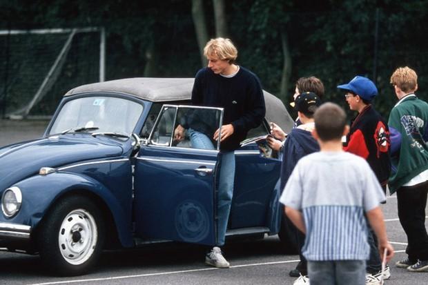 Jurgen Klinsmann também tinha um Fusca (Foto: Reprodução)
