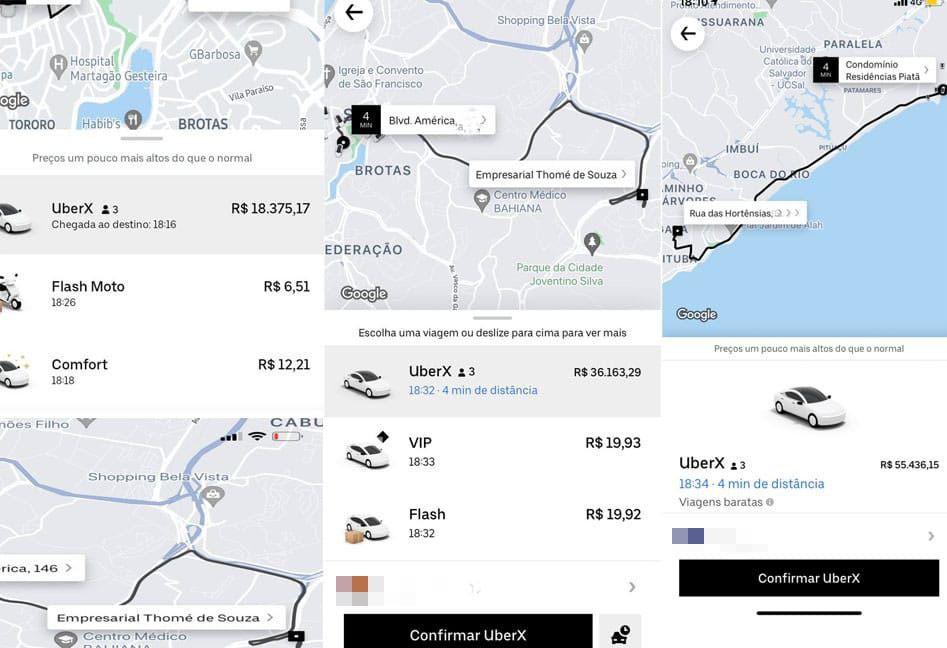 'Vai pra onde?': Usuários de transporte por app reclamam de alta de preços e corridas por até R$ 55 mil em Salvador
