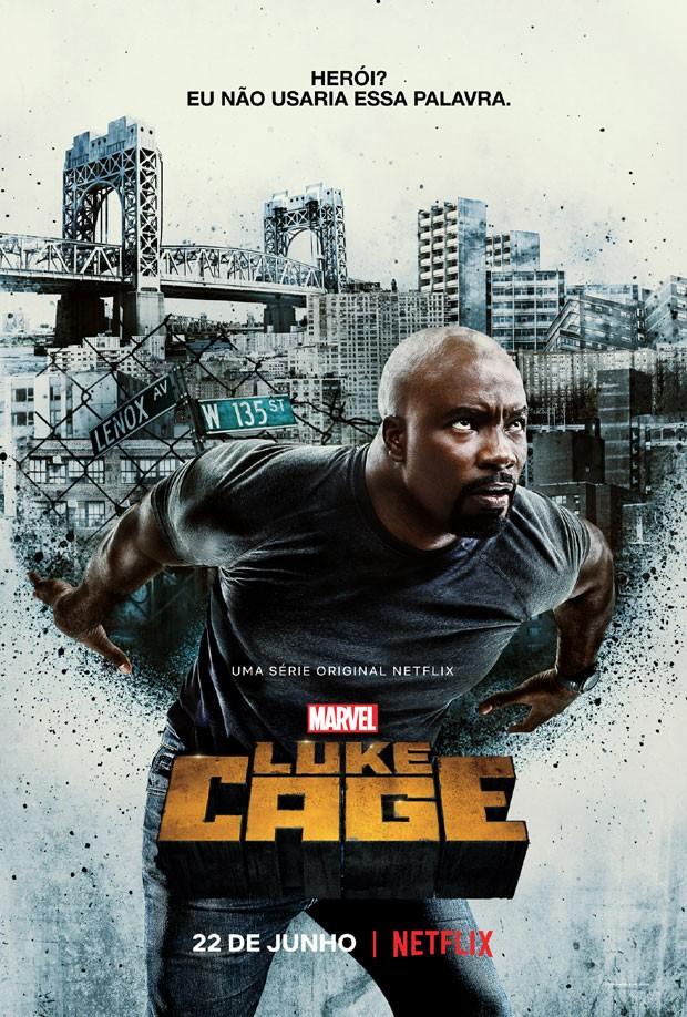 O pôster oficial da segunda temporada de Luke Cage (Foto: Divulgação/Netflix)
