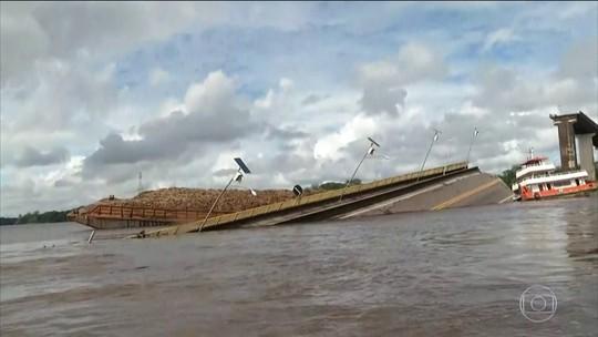 Ministério Público, Capitania dos Portos e Polícia Civil abrem inquéritos para investigar queda de parte da ponte na Alça Viária, no Pará
