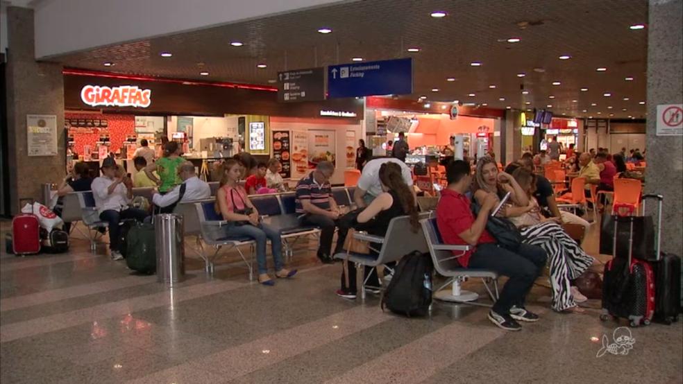 Obras vão ampliar capacidade de atendimento aos passageiros do Aeroporto de Fortaleza (Foto: TV Verdes Mares/Reprodução)