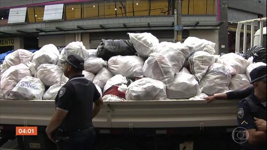 Pelo menos 30 toneladas de produtos são apreendidos em operação contra pirataria em SP
