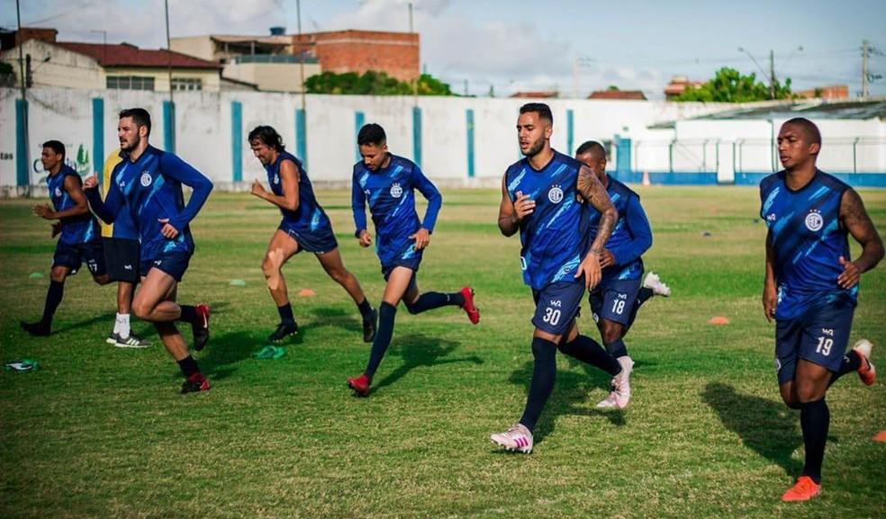 Confiança realizou pré-temporada no Estádio Sabino Ribeiro — Foto: AD Confiança
