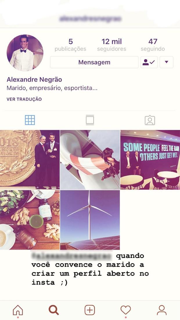 Perfil no Instagram de Xande Negrão (Foto: Reprodução / Instagram)