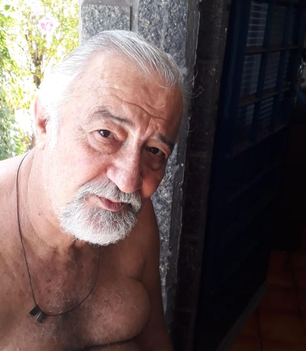 Leonildo tem 68 anos e está internado no Hospital Estadual de Bauru — Foto: Arquivo pessoal/Carlos Eduardo Fendel