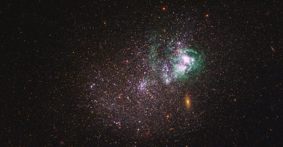 Galáxia UGCA 281 (Foto: Divulgação/ NASA)