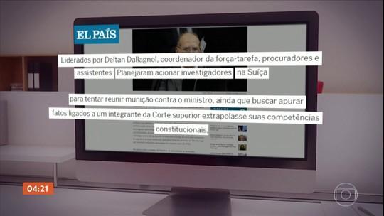 Site diz que procuradores da Lava Jato tentaram coletar informações sobre Gilmar Mendes