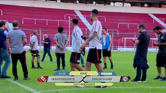 Corinthians pronto para jogo contra Independiente, na Argentina