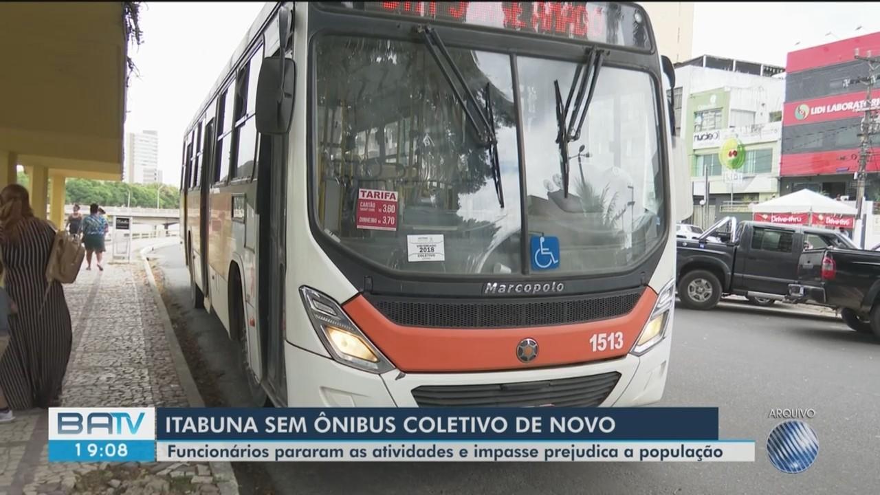 Rodoviários entram em acordo com a prefeitura de Itabuna mas ainda não voltaram a rodar