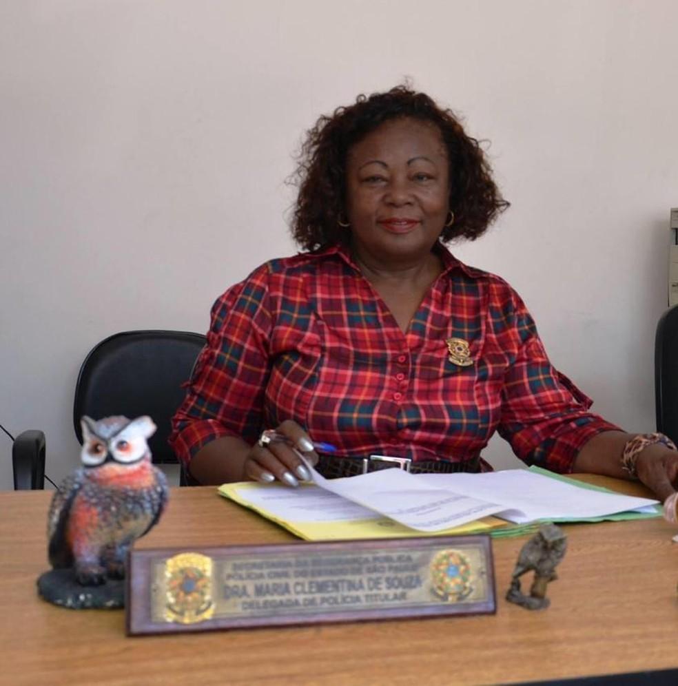 Maria Clementina de Souza, a primeira delegada negra do estado de São Paulo — Foto: Divulgação/Arquivo pessoal